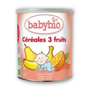 BABYBIO CEREALES 3 FRUITS BIO 220 G