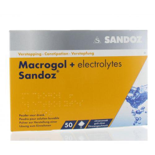 MACROGOL + ELECTROLYTES SANDOZ SACHETS GOUT CITRON 50 X 13,7 G
