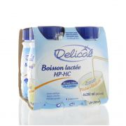 DELICAL BOISSON LACTEE HP-HC PECHE-ABRICOT 4 X 200 ML