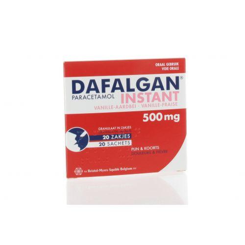 DAFALGAN INSTANT VANILLE-FRAISE GRANULES SACHET 20 X 500 MG