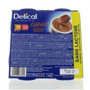 DELICAL CREME DESSERT SANS LACTOSE HP-HC CHOCOLAT 4 X 125 G
