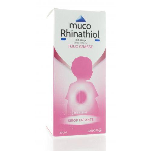 MUCO RHINATHIOL 2% SIROP ENFANT 200 ML