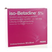 ISO BETADINE SOLUTION OCULAIRE 5% 20 X 20 ML