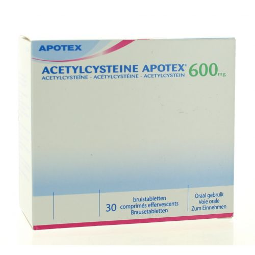 ACETYLCYSTEINE COMPRIMES EFFERVESCENTS 30 X 600 MG APOTEX