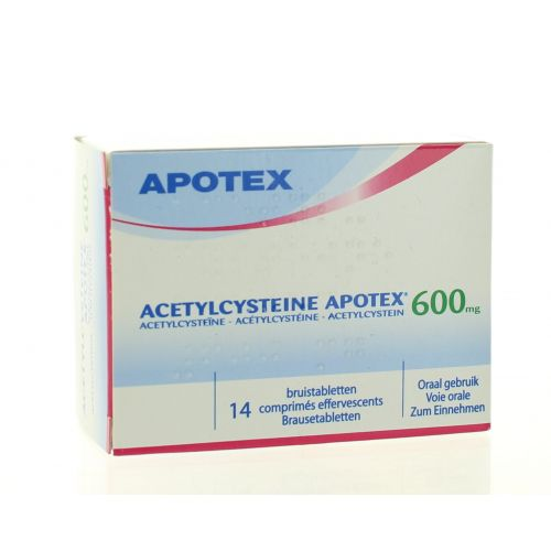 ACETYLCYSTEINE COMPRIMES EFFERVESCENTS 14 X 600 MG APOTEX