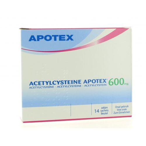 ACETYLCYSTEINE SACHETS 14 X 600 MG APOTEX