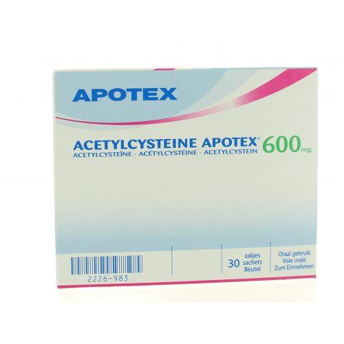 ACETYLCYSTEINE SACHETS 30 X 600 MG APOTEX