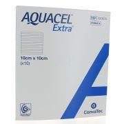AQUACEL EXTRA PANSEMENT HYDROFIBER 10 X 10 CM (10)