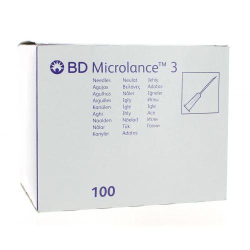BD MICROLANCE 3 AIGUILLE 26G 5/8 RB 0,45 X 16 MM BRUN (100)