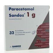 PARACETAMOL COMPRIMES 32 X 1 G SANDOZ