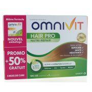 OMNIVIT HAIR PRO NUTRI REPAIR CAPSULES 120 + 60 GRATUITES