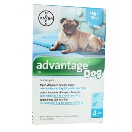 ADVANTAGE 100 CHIEN 4  10 KG 4 X 1 ML