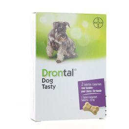 DRONTAL DOG TASTY BONE DOG 2 COMPRIMES