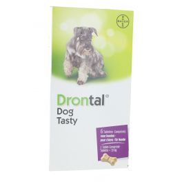 DRONTAL DOG TASTY BONE DOG 6 COMPRIMES