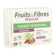 ORTIS FRUITS ET FIBRES REGULAR 24 CUBES