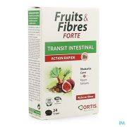 ORTIS FRUITS FIBRES FORTE 24 COMPRIMES
