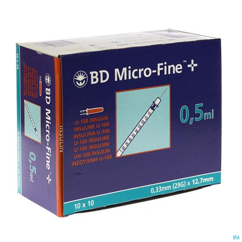 Bd Microfine+ Ser.ins. 0,5ml 29g 12,7mm 100 324824