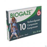 Biogaze Compresse Impregnee 10x10cm 10
