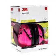 Peltor Hearing Protector Kid Neon Pink 1