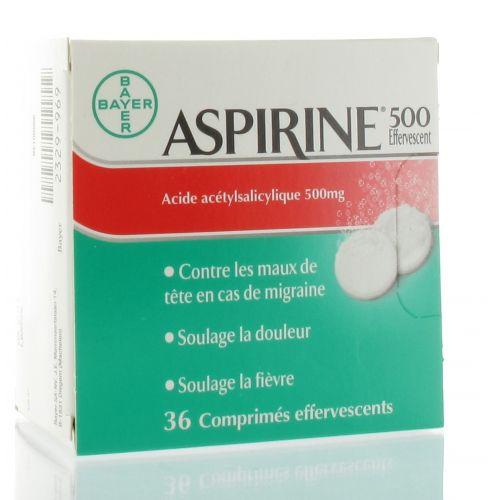 ASPIRINE 500 36 COMPRIMES EFFERVESCENTS