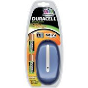 DURACELL MINI CHARGER COLOR + 2 PILES AA