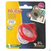 Nuby Sucette Natural Flex Cerise 6-36m