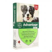 Advantage 250 Chiens 1025kg 4x2,5ml