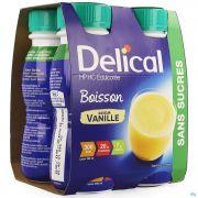 Delical Boisson Hp-hc S/sucre Vanille 4x200ml