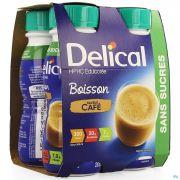 Delical Boisson Hp-hc S/sucre Cafe 4x200ml
