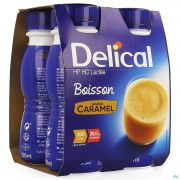 Delical Boisson Lactee Hp-hccaramel 4x200ml