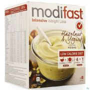 Modifast Hazelnut & Yogurt Flavoured Pudding 8x52g