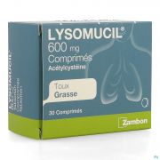 LYSOMUCIL 30 COMP 600 MG