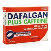 DAFALGAN PLUS CAFFEINE 20 COMP 500MG/65M