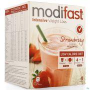 Modifast Strawberry Flavoured Milkshake 8x55g