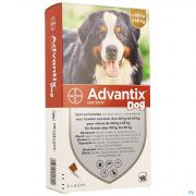 Advantix Dog Spot-on Sol Chien 40-60kg Pipet 6x6ml
