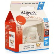 Difrax Sucette Natural 12m+ Cliniclowns