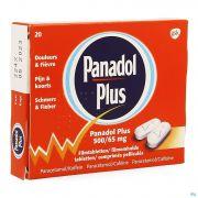 Panadol Plus 500mg/65mg Comp Pell 20 New