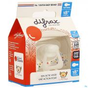 Difrax Sucette Natural 18m+ Cliniclowns