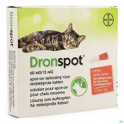 Dronspot 60mg/15mg Spot-on Chat Moyen2,5-5kg Pip2
