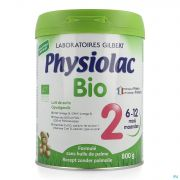 Physiolac Bio 2 Lait Pdr Nf 800g