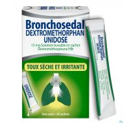 Bronchosedal Dextromethor.15mg Sol Sach 20x5ml Ud