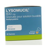 LYSOMUCIL 600 SACHETS 60 X 600 MG