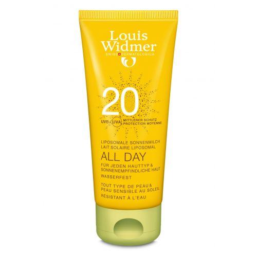 WIDMER SUN ALL DAY 20 N/PARF          TUBE 1X100ML