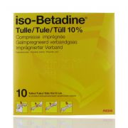 ISO BETADINE TULLE 10 X 10 CM 10 COMPRESSES
