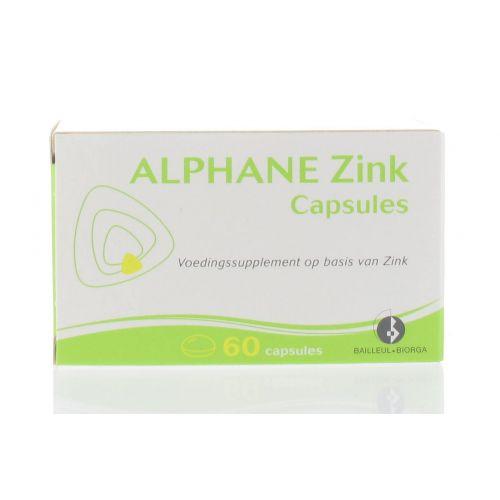 ALPHANE ZINC 60 CAPSULES