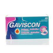GAVISCON ANTI ACIDE ANTI REFLUX 48 COMPRIMES