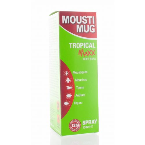 MOUSTIMUG TROPICAL MAXX 50% DEET SPRAY 100 ML