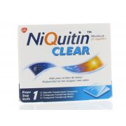 NIQUITIN CLEAR PATCHS 21 X 21 MG