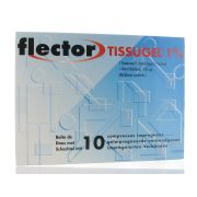 FLECTOR TISSUGEL COMPRESSE IMPREGNEE (10)