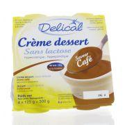 DELICAL CREME DESSERT SANS LACTOSE HP-HC CAFE 4 X 125 G